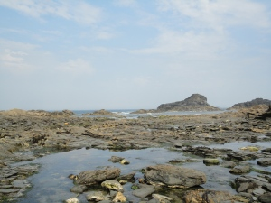 Porth Mear. Cornish rock pools near Porthcothan.