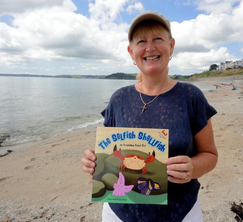 Grandma Paint Pot author of The Selfish Shellfish. Book about Cornish Rock Pools.