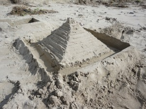 Ed and Louis's Sand pyramid