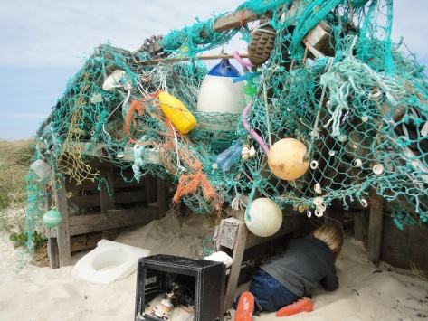 Shelter Made from Marine Litter
