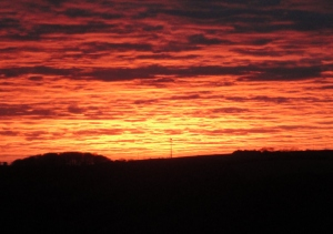 And a perfect sunset when we got home - these are the natural colours!