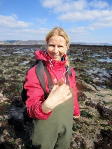I love my waders! Exploring the Cornish rock pools.