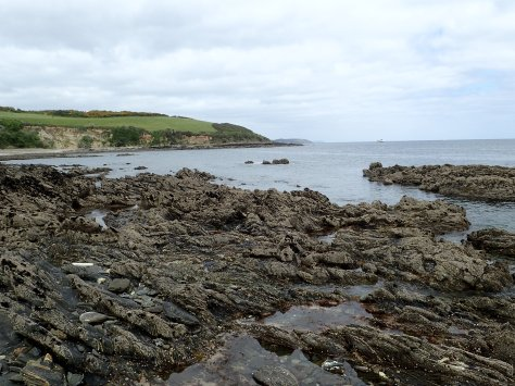 The view towards Falmouth, Cornish Rock Pools