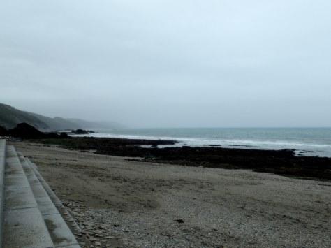A very un-summery bank holiday at Plaidy beach near Looe