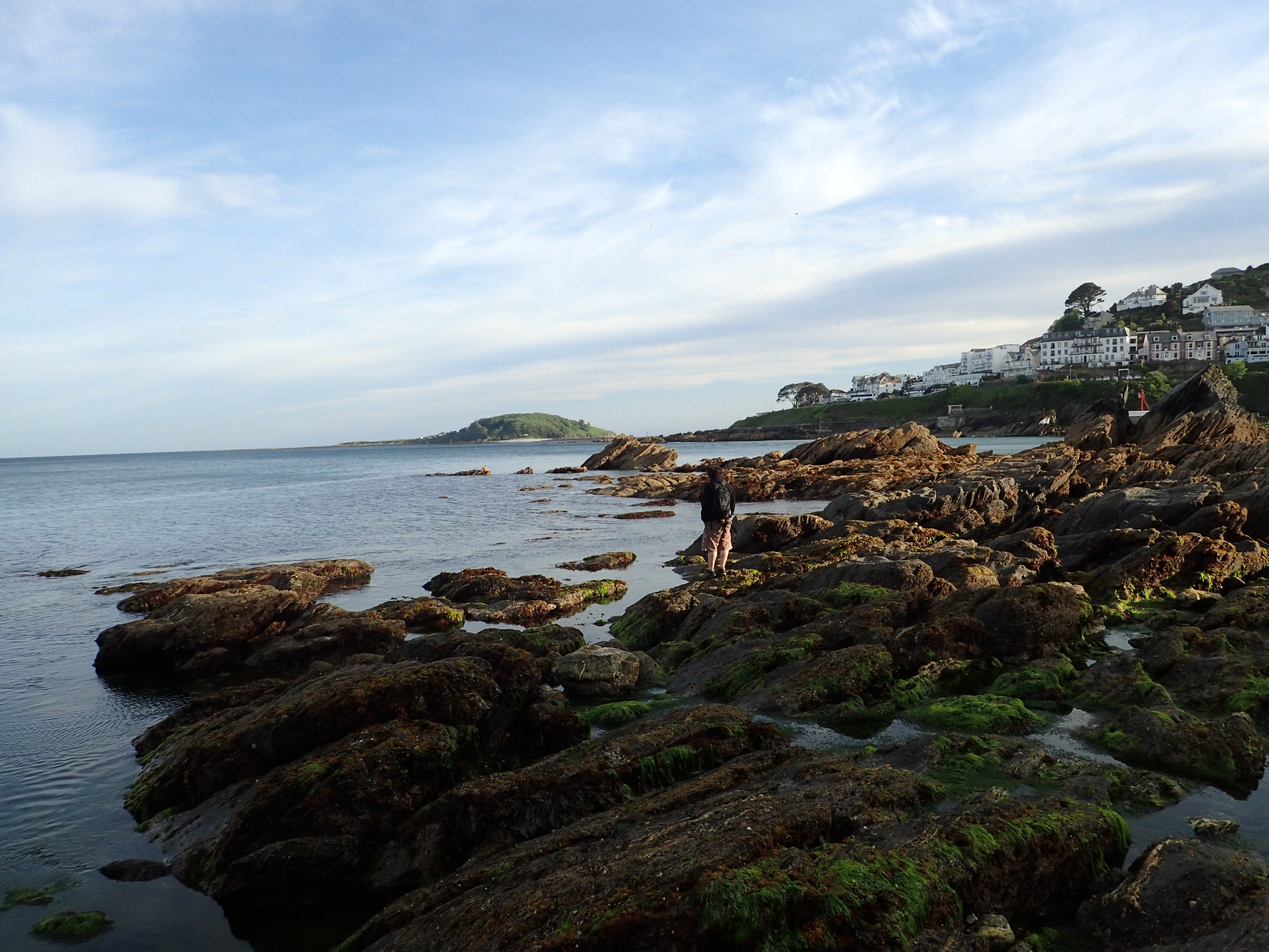 East Looe rocks in the evening