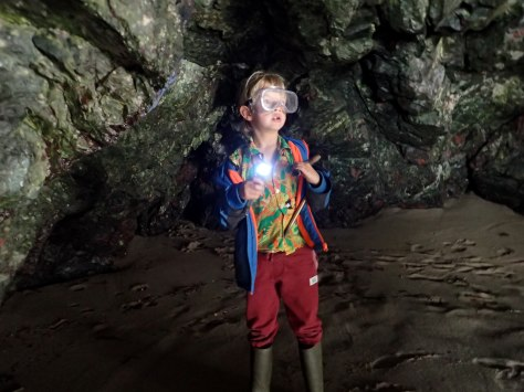 Cornish rock pools junior explores the serpentinite caves