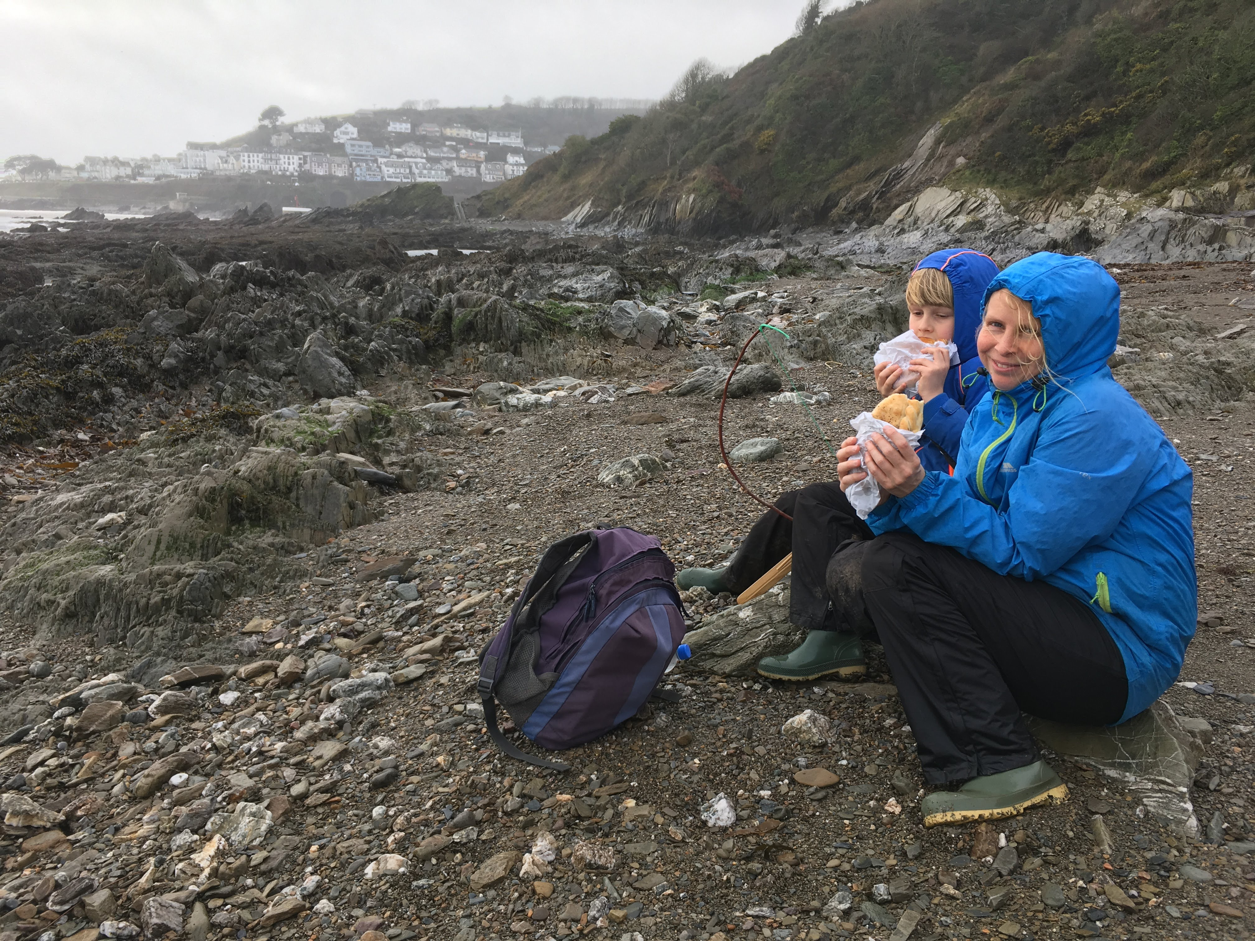 Cornish Rock Pools in Looe - fuelled by rain-soaked pasties